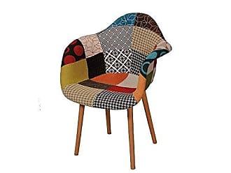 Pelegrin Cadeira Charles Eames Patchwork Orgânica Pelegrin Fw-073f