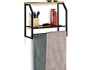 schwarz 3 Ebenen Wandregal f/ür Innen HBT: 62 x 60 x 16 cm Relaxdays H/ängeregal f/ür die Wand belastbare Wandablage
