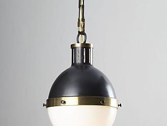 Visual Comfort Hicks 2-Light Large Bronze with Antiqued Brass Pendant