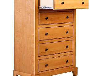Forest Designs Shaker 5 Drawer Dresser with Black Knobs Unfinished Alder - B3051B- SN-UA