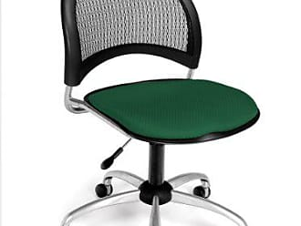 OFM Moon Series Armless Fabric Swivel Chair, Forest Green