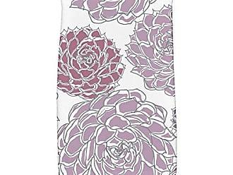 E by Design E by design HTF841PU8 Olivia Floral Print Hand Towels 16 x 25 Purple