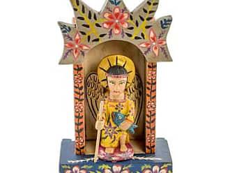 Novica Pinewood sculpture, Archangel Raphael Shrine