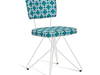 Daf Mobiliário Cadeira de Aço Retrô Butterfly Daf Mobiliário Azul/Branco