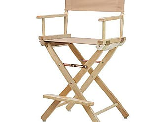 Yu Shan Casual Home 24 Directors Chair Natural Frame with Tan Canvas, Counter Height
