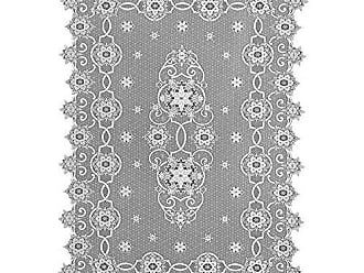 Heritage Lace Snowflake Christmas Tablecloth, 60 x 86, White