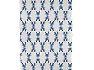 E by Design Ebydesign Criss Cross Geometric Print Beach Towel 30 x 60 Blue