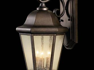 Feiss OL5902CB Martinsville Outdoor Lantern - Wall Mount in Corinthian Bronze finish with Clear Seeded Glass