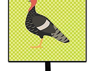 Carolines Treasures Bronze Turkey Pink Check Wall Hook Small Multicolor