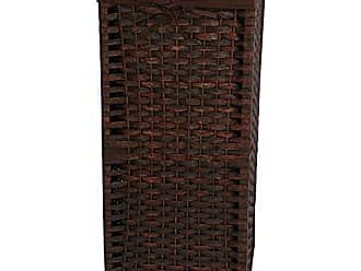 Oriental Furniture 28 Natural Fiber Laundry Hamper - Mocha