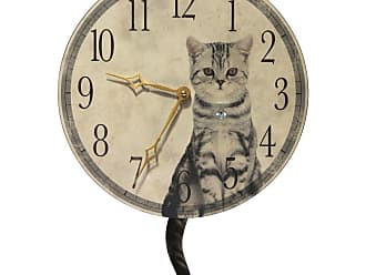 Infinity Instruments Purrfect Timing 13.5W x 18H in. Wall Clock - 15120