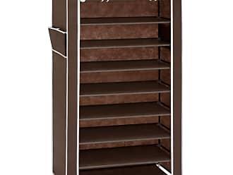 Best Choice Products 9 Tier Shoe Storage Cabinet Organizer DIY Shoe Rack    Brown