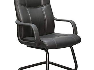 Pelegrin Cadeira Interlocutor Pelegrin Em Couro Pu Preta Pel-229v