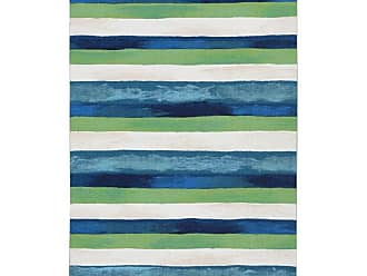 Liora Manne Visions II Painted Stripes Indoor/Outdoor Area Rug Blue, Size: 8 x 10 ft. - VCF80431303
