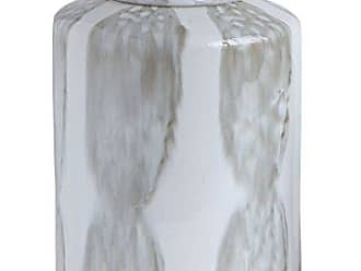 Bloomingville AH0068 Large Grey & White Decorative Stoneware Ginger Jar with Lid
