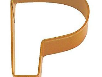 CybrTrayd R&M Durable Cookie Cutter, Monogrammed Letter P, Orange, Bulk Lot of 12