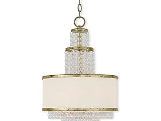 Livex Lighting 50784 Prescott 3 Light 1 Tier Chandelier Brushed Nickel