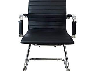 Pelegrin Cadeira Interlocutor Couro PU Preta PEL-1190V - Pelegrin