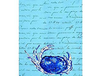 Betsy Drake KT351 Blue Script Crab Kitchen Towel