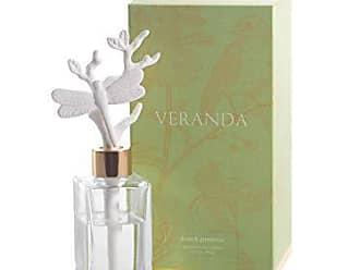 Zodax Veranda French Gardenia Porcelain, Dragonfly Diffuser Oil, Clear, White, Gold