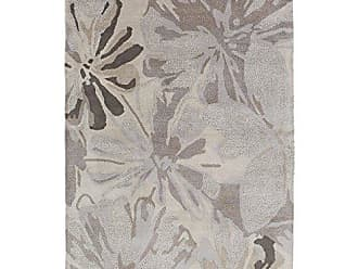 Surya ATH-5135 Hand Tufted Floral and Paisley Area Rug, 6-Feet by 9-Feet