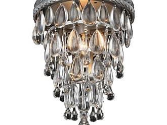 Elegant Furniture & Lighting Elegant Lighting Nordic 1219 Flush Mount Light, Size: 15 in. - 1219F15AS/RC