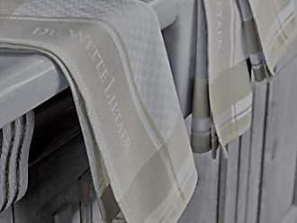 Blanc-Gris Craie 3//50x70 cm 100/% Coton De Witte Lietaer DWL Lot 3 Torchons
