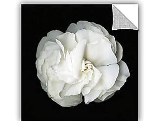 ArtWall Susanna Shaposhnikova White Flower Removable Wall Art Mural, 14x14 Inches