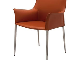 NUEVO Colter Leather Dining Armchair, Ochre