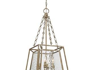 Quoizel Lakeside 4-Light Cage Chandelier in Vintage Gold