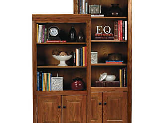 Eagle Furniture Oak Ridge Customizable Open Bookcases with Doors, Size: 60 in. - 93460WPMD