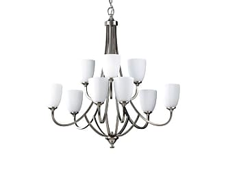 Feiss F2585/6+3-LQ Nine Light Up Lighting Multi-Tier Chandelier with