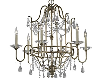 Feiss F2475/6GS Gianna Chandelier in Gilded Silver finish