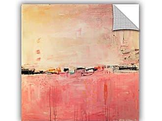 ArtWall Jolina Anthonys Pretty Peach Removable Wall Art Mural, 14x 14