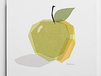 WEXFORD HOME Green Linen Apple Gallery-Wrapped Canvas Art Print, 24x24