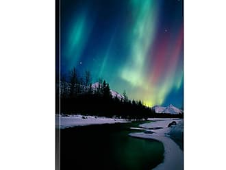 Great Big Canvas Northern Lights Over Portage River Valley Canvas Wall Art Print - AKS408LSCT0045002_24_16X24_NONE