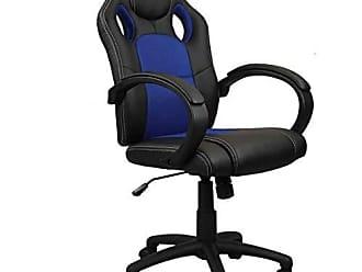 Pelegrin Cadeira Presidente Gamer em Couro Pu Preta com Azul Pelegrin Pel-3002