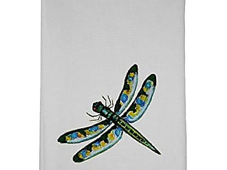 Betsy Drake GT087 Green Dragonfly Guest Towel