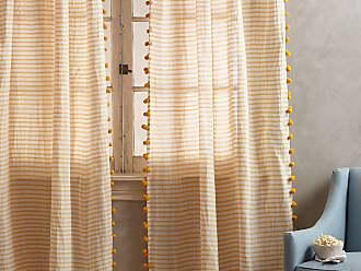Anthropologie Pom Tassel Curtain