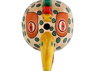 Novica Wood mask, Maya Rooster