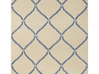 Capel Rugs Williamsburg Parable Rectangle Hand Knotted Area Rug, 5 x 8, Blue