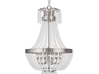 Livex Lighting 51856 Valentina 6 Light Foyer Pendant Brushed Nickel
