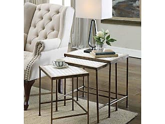 4D Concepts Nesting Tables with Travertine Tops - Set of 3 - 605809