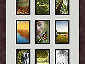 Art to Frames Double-Multimat-1046-756/89-FRBW26061 Collage Frame Photo Mat Double Mat with 9-3x5 Openings and Espresso Frame