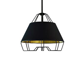 Dainolite ROC-1512 Rockwell Single Light 15 Wide Pendant Black / Gold