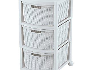 Inval America Rimax Mobile 10430 Three Drawer Rolling Cart in White