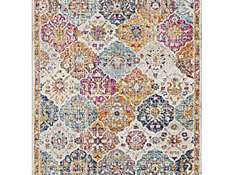 Surya Eveline Orange and Saffron Updated Traditional Area Rug 93 x 126