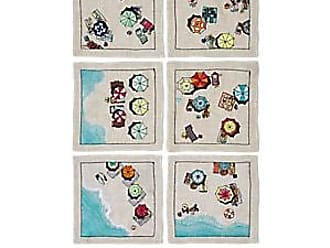 Kim Seybert Beach Days Linen Napkin Set - Cream
