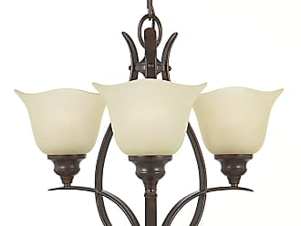 Feiss F2047/3GBZ Morningside Chandelier - Mini in Grecian Bronze finish with Cream Snow Glass Shade