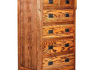 Forest Designs Arts and Crafts 6 Drawer Dresser Unfinished Alder - 3051ARCHSIXDRAWER- AM- UA